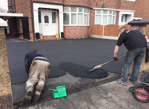 Black Tarmac Driveways