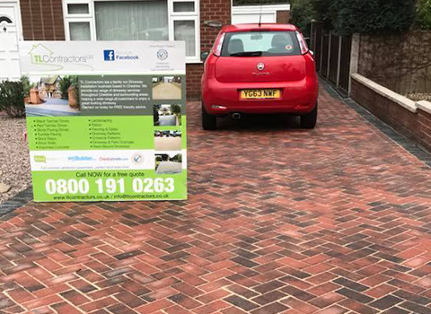 Block Paved Driveway – Colwyn Bay, North Wales
