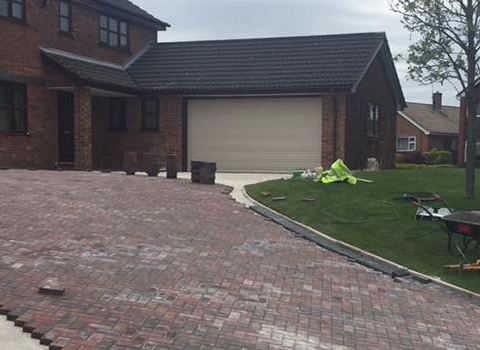 Large Block Paving Driveway – Wirral