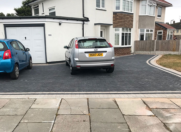 New Block Paving Driveway – North Wales